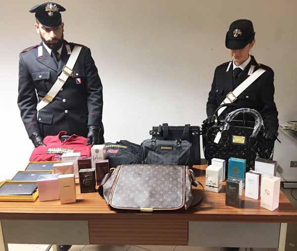 carabinieri. SEQUESTRO MERCE CONTRAFFATTA