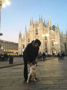 Lorenza con Andrea a Milano