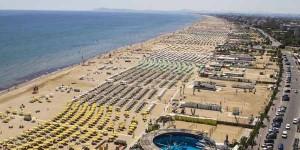 Panoramica della costa romagnola
