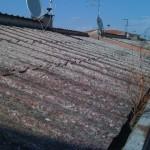 Un tetto in amianto