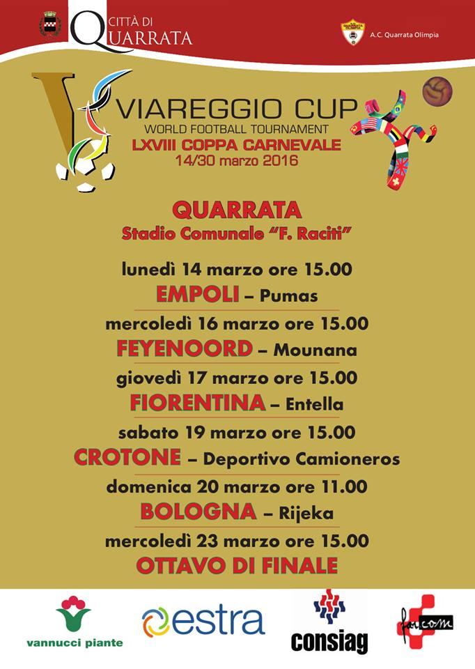 """quarrata. SEI PARTITE """"VIAREGGIO CUP"""" AL 'RACITI'"""