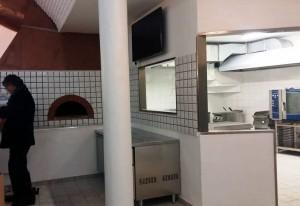 L'interno della mensa