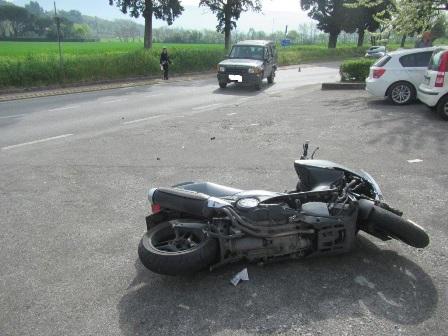 montemurlo. MOTOCICLISTA IN OSPEDALE DOPO LO SCONTRO CON UN SUV