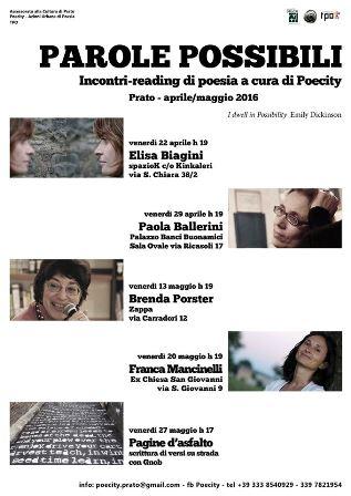 prato-poesia. INCONTRO-READING CON PAOLA BALLERINI
