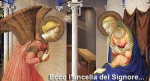 L'Annunciazione. Ecce ancilla Domini