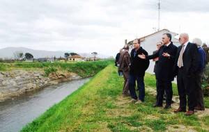 Enrico Rossi sull'Ombrone alla Ferruccia