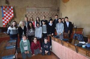 Gli studenti giapponesi a Palazzo Comunale