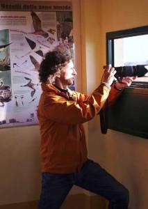 Luca Bracali all'osservatorio delle Morette