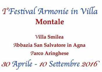 """montale. 1° FESTIVAL DELLE """"ARMONIE IN VILLA"""""""