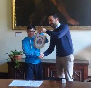 Alessandro Dressadore e il sindaco Bertinelli