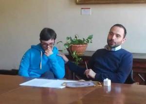 Alessandro Dressadore e il sindaco Bertinelli. 2