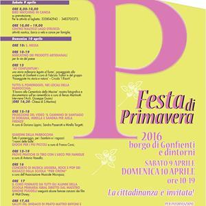 """prato. """"FESTA DI PRIMAVERA"""" A GONFIENTI"""