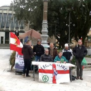 Alcuni dei rappresentanti della Lega Nord Montecatini