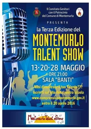 """""""MONTEMURLO TALENT SHOW"""" TERZA EDIZIONE"""