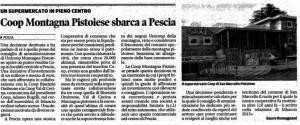 Coop Pescia. Il Tirreno, 17 maggio 2016