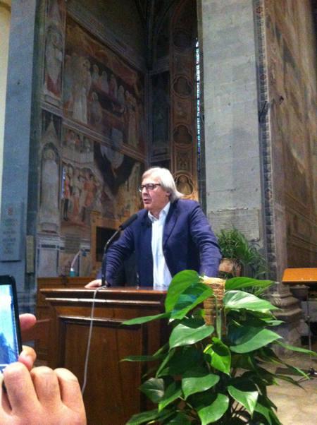 sgarbi a pistoia. «RIPENSARE L'ITALIA CON UN'IDEA DI BELLEZZA»