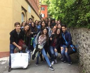 Gli studenti-attori del liceo Lorenzini di Pescia
