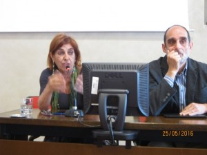 Maria Sargentini e Andrea Poggi di Arpat