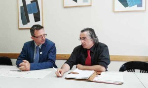 Maurizio Giorgi e Giacomo Del Bino in conferenza stampa