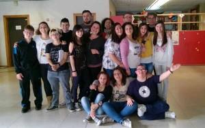 Gli studenti/attori dell'Istituto Einaudi