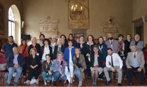 La squadra dei Dialoghi 2016 alla conferenza stampa in sala maggiore