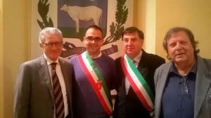 Manuel Fava con il preside Calusi e il sindaco di Bovino, Michele Dedda