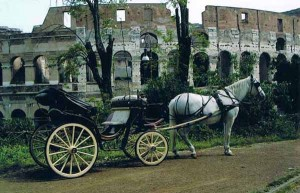 Una carrozza a disposizione dei turisti