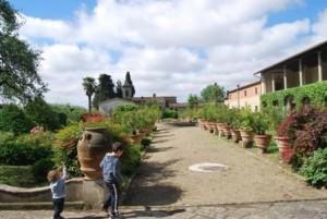 Il giardino della villa del Parugiano