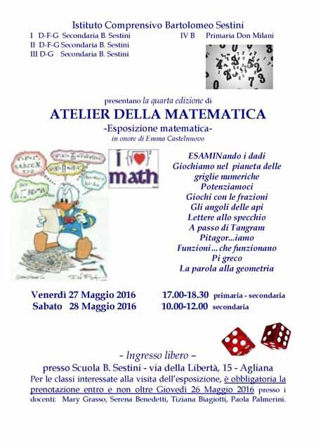 Agliana Atelier Della Matematica Allistituto Sestini Linea Libera