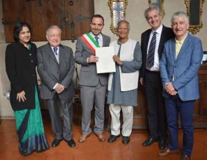 Cittadinanza onoraria a Muhammad Yunus. 2