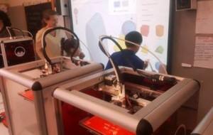 Una delle stampanti in azione