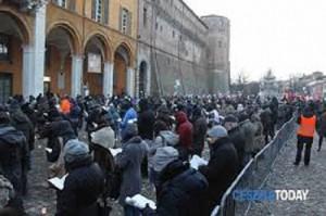 I grillini in piazza a Cesena