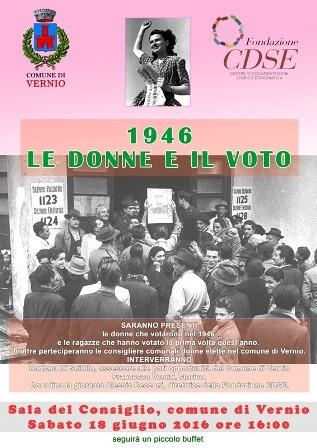 primo voto delle donne. 1946 E 2016 A CONFRONTO