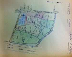 Cartografia degli orti dell'Arcadia e gore