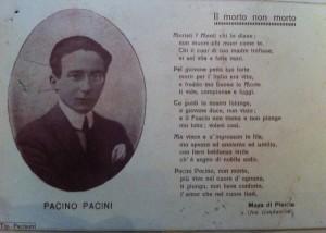 Poesia per Pacino Pacini [coll. Giovanni Tronci]