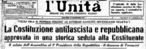 unita costituzione