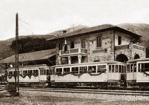 Treno di inaugurazione (dal profilo Facebook di Roberto Prioreschi, foto di Gloria Andreoli