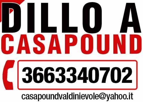 """""""DILLO A CASAPOUND"""", SERVIZIO A SOSTEGNO DEI CITTADINI"""