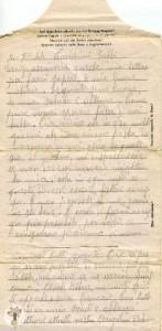 Una delle lettere di Arturo