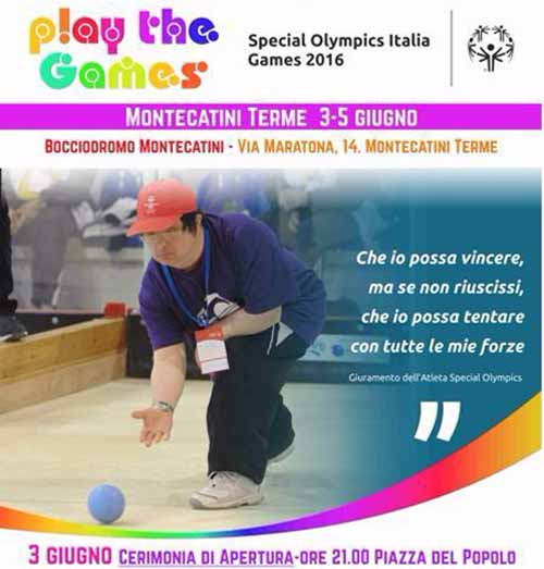 "montecatini. ""PLAY THE GAMES"" AL BOCCIODROMO"