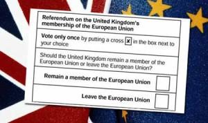 La scheda per la Brexit: una semplicità disarmante...