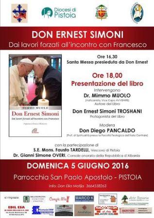 """libri. """"DON ERNEST SIMONI. DAI LAVORI FORZATI ALL'INCONTRO CON FRANCESCO"""""""