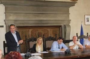 I rappresentanti di Coldiretti Pistoia con il sindaco Giurlani