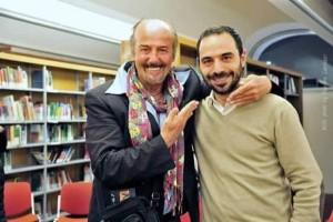 Enio Drovandi con il sindaco Bertinelli [foto Massimo Carradori]