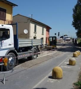 Cantiere Ponte a Tigliano nel 2015