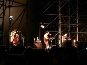 Damien Rice sul palco del Pistoia Blues