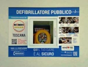 Un defibrillatore del M5S per Montecatini Alto