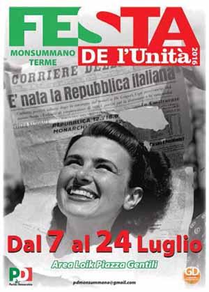 pd. FESTA DELL'UNITÀ A MONSUMMANO