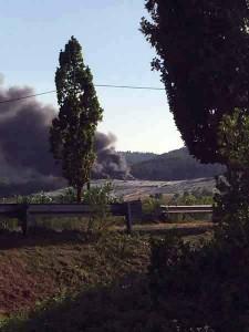 Discarica del Cassero in fiamme. 1