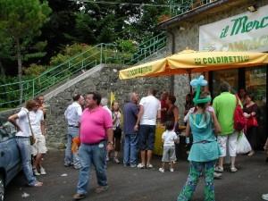 Panicagliora, esterno mercato Campagna Amica